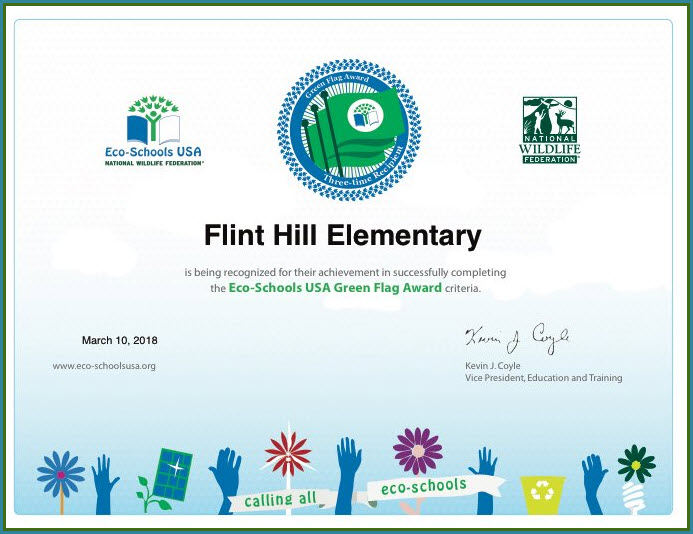 2018 Flint Hill ES Green Flag Award